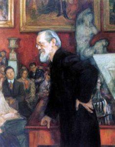 Портрет историка В.О.Ключевского. Леонид Осипович Пастернак. 1909