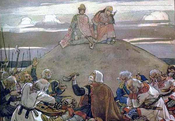 В. М. Васнецов. Тризна на могиле Вещего Олега (1899).