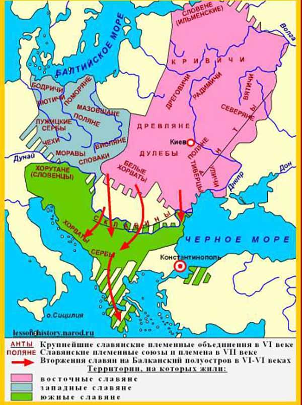 Расселение славян 7 век.