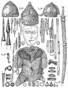 Доспехи и оружие половецкого воина XII века.