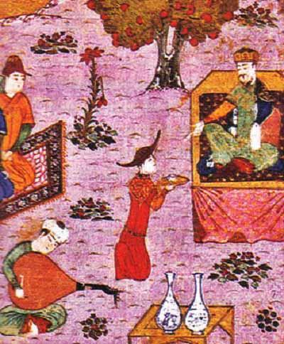 Хан Гуюк и Батый на празднике