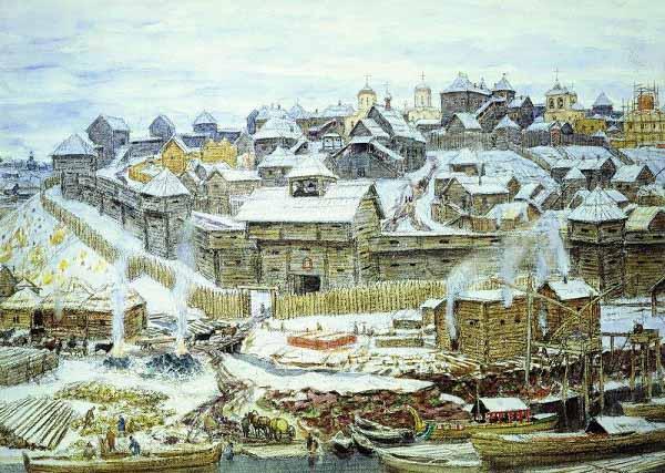 Московский кремль при Иване Калите, картина А. М. Васнецова