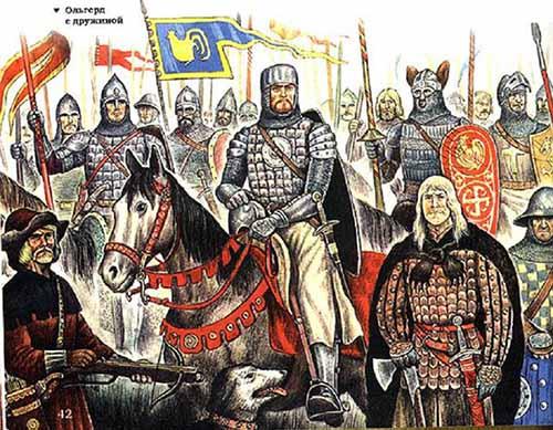 Ольгерд Гедиминович князь Литовский с дружиной