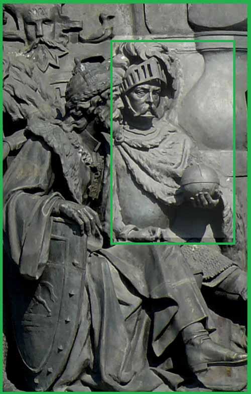 """Витовт на памятнике """"Тысячелетие России"""" в Великом Новгороде,1862"""