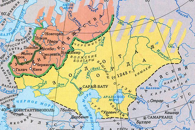 Карта земель Золотой Орды