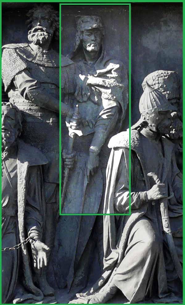 Кейстут на Памятнике «1000-летие России» в Великом Новгороде