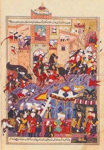 Тамерлан при осаде крепости Балх в 1370 году