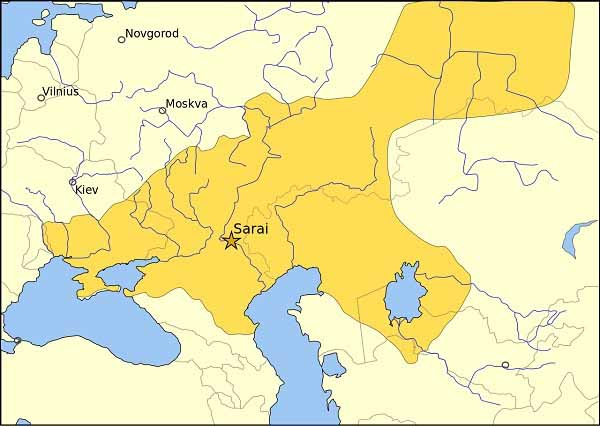 Золотая Орда в 1389 году при Тахтамыш-хане.