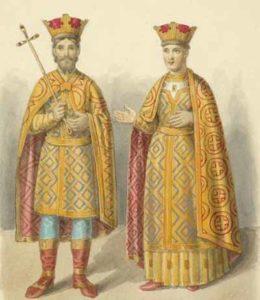 Василий I и Софья Витовтовна (реконструкция с саккоса Фотия)