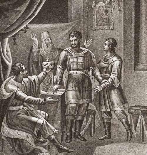 Дмитрий Донской оставляет завещание о наследовании власти сыновьям Василию и Юрию.