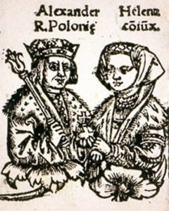 Великий князь литовский Александр с супругой, Еленой Ивановной