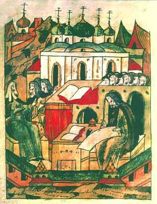 Прп. Иосиф Волоцкий пишет «обличительная словеса» против жидовствующих