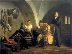 Дмитрий Самозванец у Вишневецкого. Картина Николая Неврева 1876