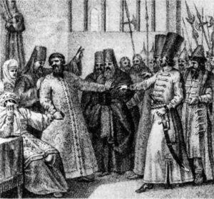 Пострижение Василия Шуйского в монахи. Б. Чориков