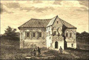 Дом в Калуге, где жили Лжедмитрий II и Марина Мнишек.М. Рашевский.1884