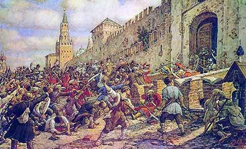 Соляной бунт в Москве 1648.