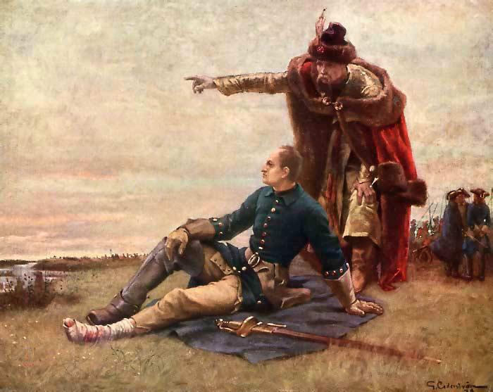 Гетман Иван Мазепа Карл XII и Мазепа после Полтавской битвы. Художник Г. Седерстрём