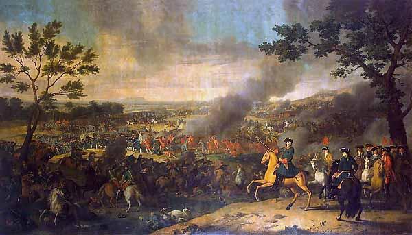 Л. Каравак. «Пётр I в Полтавской битве» (1718)