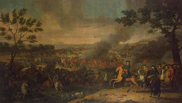 Пётр I Алексеевич в Полтавской битве. Л. Каравак, 1718
