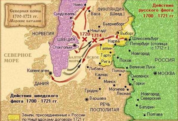 Северная война со Швецией 1700—1721 годы