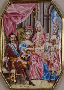 Семья Петра I в 1717