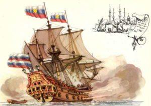 46-пушечный корабль Крепость