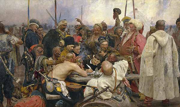 Казаки пишут письмо турецкому султану картина Илья Репин