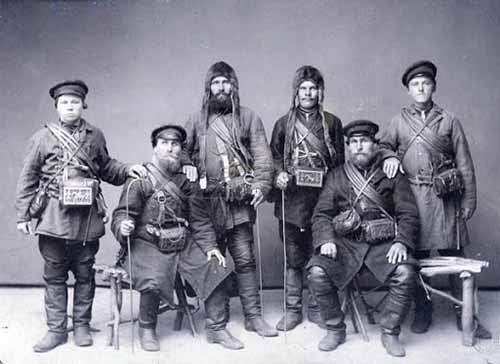 Химков Алексей и трое его товарищей, русские мореплаватели XVIII в.