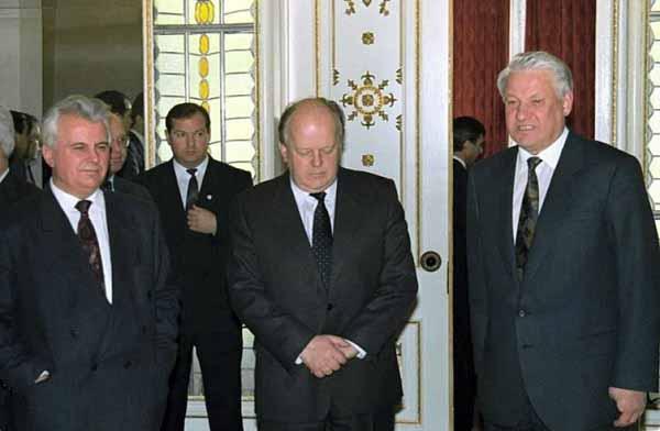 Кравчук,Шушкевич,Ельцин.Беловежская пуща.8.12.1991