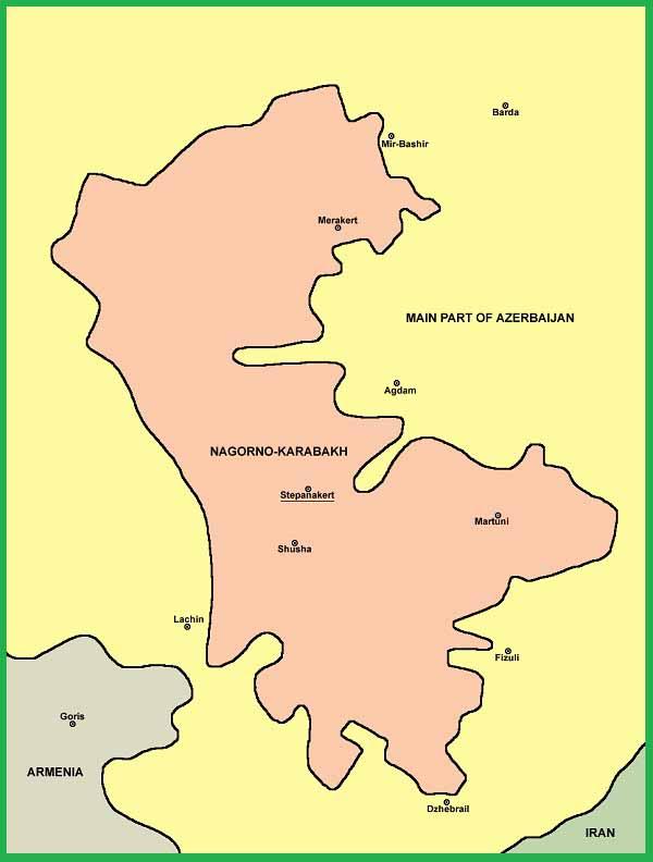 Нагорно-Карабахская автономная область в составе Азербайджанской ССР