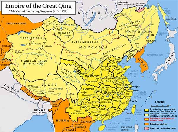 Империя Цин в 1820 году
