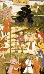 Казнь Мансура Халладжа изображённая на могольской миниатюре