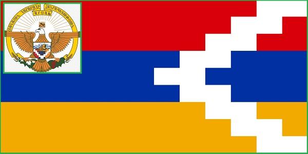 Нагорно-Карабахская Республика Флаг и Герб