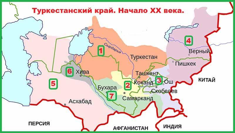 Туркестанский край в начале XX века