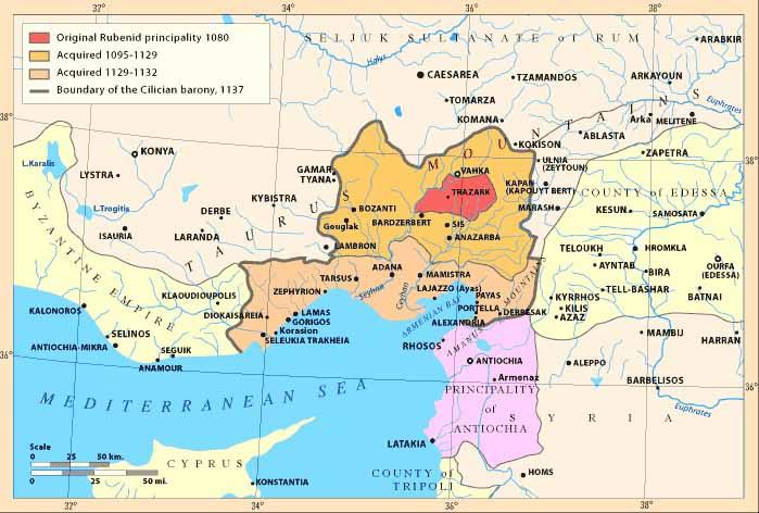 Киликийская Армения в 1080-1199