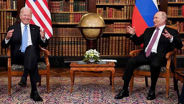 Встреча президентов США и РФ в Женеве 16.06.2021.