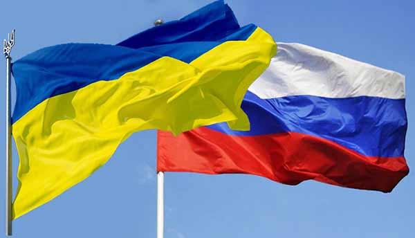 Флаги Рооийская федерация и Украина