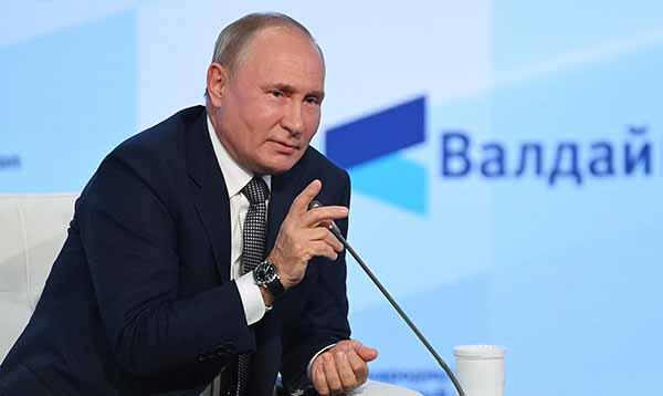 """Президент РФ В. Путин отвечает на вопросы участников клуба """"Валдай"""""""